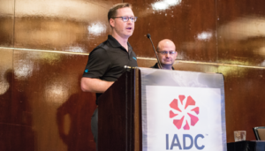 Bill Murphy (left) and Phil Molé (right) of Velocity EHS emphasized the importance of employee buy-in to incident prevention programs during a presentation at the 2017 IADC HSE&T Conference in Houston on 7 February. Ensuring that employees are made aware when their feedback or reporting leads to a corrective action is one way to secure their buy-in. Employees can also be included in the development of the job safety analysis.