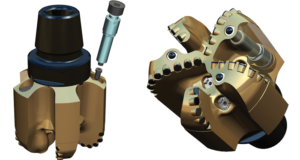 Figure 1 shows an 8 3/4-in. prototype of the bit, with adjustable units installed. The bit mitigates vibrations by resisting rapid changes in depth-of-cut that occur during unfavorable dynamic events. This adjustment is accomplished through a passive hydro-mechanical feedback mechanism encapsulated in self-contained units that are installed inside the bit blades.
