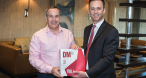 IADC President Jason McFarland (right) presents a copy of the IADC Drilling Manual 12th Edition to ANP Director-General Décio Oddone on 4 May in Houston. IADC met with ANP to discuss ongoing changes being made to Brazil's regulatory framework and their potential impact on the industry.