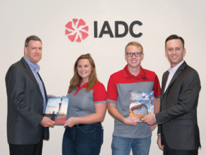On 24 July, students from the Missouri University of Science and Technology visited IADC's Houston office. The university is the site of the second chartered IADC student chapter. Incoming Chapter Chair Jana Hochard and Dalton Buchanan met with IADC representatives to discuss the student chapter's priorities and were presented with IADC books and materials. From left are Mike DuBose, IADC Vice President, International Development; Jana Hochard; Dalton Buchanan; and Jason McFarland, IADC President.