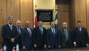 Left to Right: George El Zir, BHGE Global Technical Training Leader; Ayman Khattab, VP, BHGE, Egypt and South Gulf; Rami Qasem, CEO, BHGE, Middle East, North Africa, Turkey and India; Lorenzo Simonelli, President and CEO, BHGE; HE Eng. Tarek El Molla, Egyptian Minister of Petroleum; Eng. Osama El Bakly, EGAS Chairman; Eng. Atef Hassan, Chairman and Managing Director, Petrobel.