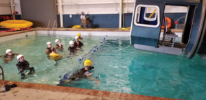 Six petroleum engineering students from the IADC student chapter at the University of Louisiana at Lafayette (ULL) received their helicopter underwater egress training (HUET) certifications on 5 October from the school's Marine Survival Training Center. The IADC student chapter program was successfully launched this year and will likely be expanded in 2018. Besides the chapter at ULL, there are also student chapters at Texas A&M University and the Missouri University for Science and Technology.