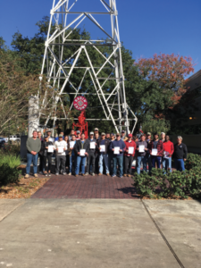 In December, 25 students from the IADC student chapter at the University of Louisiana – Lafayette attended an IADC WellSharp introductory level 2 class, held by Smith Mason & Co. Twenty-three of the students achieved certifications. The courses are held each semester, free of charge to the students, with the aim of helping them to learn what it takes to excel in the drilling industry.