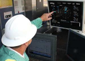 Schlumberger's abbl drilling operations advisor service leverages real-time downhole and surface data to recommend steering instructions to guide the bit along the well plan. It also provides objective slide feedback, such as direction, length, toolface control, motor output and rotary tendencies, while steering operations are executed. Photo Courtesy of Schlumberger.