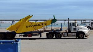 The STEVSHARK Rex is transported to the Angel oilfield in the Northwest Shelf of Australia.