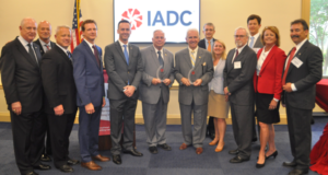 From left to right: Mike Bowie, Baker Hughes, a GE company; Scott McKee, Cactus Drilling; Mike Lawson, Rowan Companies; Jason McFarland, IADC; Representative Gene Green (D-TX); Representative Jim Costa (D-CA); James Sanislow, Noble Drilling; Liz Craddock, IADC; Steve Brady, Ensco; Chris Menefee, Independence Contract Drilling; Terry Bonno, Transocean; Mike Garvin, Patterson-UTI