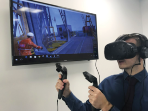 Drilling Systems has created virtual reality training modules that are used for everything from allowing new employees to familiarize themselves with the rig to scenario-based exercises that allow employees to safely practice their response to high-risk events.