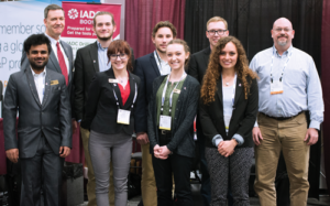 IADC Student Chapter members from the Missouri University of Science and Technology attended the IADC/SPE Drilling Conference and Exhibition, held 6-8 March in Fort Worth, Texas. Back row from left are Mike DuBose, IADC VP of International Development; Tyler Charles, Grand August, Dalton Buchanan, and faculty liaison Rickey Hendrix. Front row from left are Vishwaksen Reddy, Tessa Mortensen, Katie Miller and Megan Lopez.