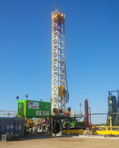 SIMMONS EDECO's drilling rig 836, which is being used to carry out the operation for Tonalli Energia in Mexico.