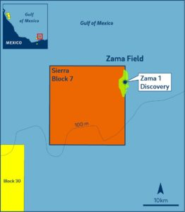 Zama is one of the world's largest shallow water discoveries, estimated to hold 400 to 800 million BOE in recoverable volumes.