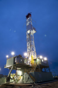 Precision's Super-Triple Rig 533 is drilling in the Montney Doig in Canada.