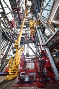 Ensco's Continuous Tripping Technology enables tripping speeds of up to 9,000 ft/hr, which is up to three times faster than tripping speeds achieved with current stand-by-stand methods. The technology has been installed on the ENSCO 123 jackup.
