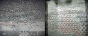 Figure 6 (left) shows cuttings from Well D4, which initially used KCL PHPA mud with 2% lubricant. 3-4 cm clay balls were observed at the shakers while directional casing drilling. Figure 7: Cuttings problems were mitigated on Well D3 drilling with seawater.