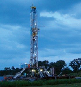 Keen Energy Services' Rig 40 is operating in the Haynesville Shale in north Louisiana for Petrohawk.