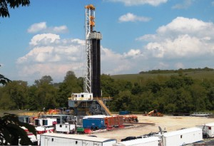 An H&P FlexRig4S working in Pennsylvania. Helmerich &  Payne is at 100% utilization in its FlexRigs and anticipates little  demand for its 34 stacked conventional rigs.