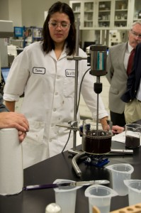 A laboratory demonstration and discussion of fracturing fluid additives was held at the Baker Hughes' Tomball facility on 8 December.