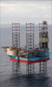 The ultra-harsh environment jackup Maersk Inspirer is capable of operating in water depths up to 150 meters. It is currently working as a combined drilling and production unit in Norway. Hydrocarbons are processed on the rig itself, and gas is transferred by pipeline to a floating storage and offtake vessel.