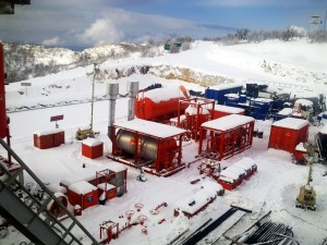 An AlMansoori well testing package is perched in the Western Zagros mountains of Kurdistan, northern Iraq. Drilling activity in northern Iraq is expected to continue growing at a brisk pace during 2011 as companies shift from seismic data gathering into exploration and appraisal.