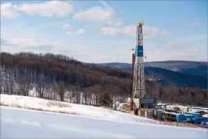 Nabors Drilling's Rig 981, an SCR unit, drilled for Shell in the Marcellus, which underlies Ohio, West Virginia, Pennsylvania and New York. Nabors photo at right courtesy of Jim Blecha Photography