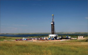 Unit Drilling's Rig 106 is working for Ursa Resources in the Bakken in North Dakota. The rig is located near New Town, N.D., on a Slawson Exploration location.