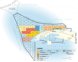 Cuba intends to develop deepwater prospects in the 112,000-sq-km Cuban Exclusive Economic Zone in the Gulf of Mexico. It is divided into 59 2,000-sq-km blocks; the average water depth is 1,400 meters.
