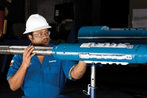 Figure 8: The Schlumberger RapidAccess indexing casing coupling (ICC) and construction selective landing tool are integral parts of the level 2 multilateral system. The ICCs, installed in the casing string when the string is run, are reusable throughout the life of the well.