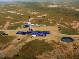 Santos is using rigs like the Rig 183, an Advanced Technology Double brought in by Canada's Saxon Energy Services, to drill 9,800-ft gas wells in the Cooper Basin.
