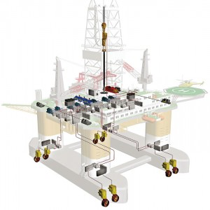 A total solution from ABB for a DP drilling vessel includes the power-generation and distribution system with its controls, thruster and drilling drives system and the Azipod CZ thrusters. All major components are produced in ABB factories.