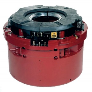 Figure 5: Automated power slips eliminate repetitive handling of pipe slips. Manual slips weigh up to 250 lbs and impose biomechanical and physiological stresses. Courtesy of National Oilwell Varco