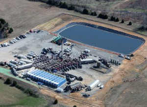 Twelve Ozonix EF10 Units work to treat water at rates of up to 120 bbl/min in the Fayetteville Shale.
