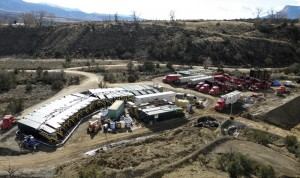ROLCO's Flow/Pro 20 electro-coagulation system treats and recycles water on a frac pad in Colorado.