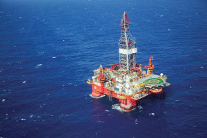 Diamond Offshore's Ocean Valor semisubmersible has been operating offshore Brazil under a contract with Petrobras since it was delivered from the Jurong shipyard in 2009. The rig can operate in more than 3,000 meters of water and is capable of drilling wells more than 12,000 meters deep. Image courtesy of Diamond Offshore