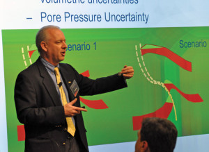 Andy Hawthorn, Schlumberger business development manager, earth model building, explained that there is a four-fold increase in deepwater NPT due to wellbore instability and mechanical instability, during a presentation at the company's re-launch of its Digital Technology Theater in Houston in March.