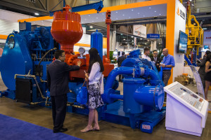 Honghua Group's triplex direct-drive pump, exhibited at the 2013 OTC, reduces maintenance, increases service life and reduces noise emissions and vibrations. The pump will be integrated into Honghua's next-generation rig, the US #1.