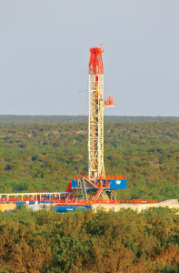 Rig 239, one of Patterson-UTI Drilling's high-speed APEX 1500 rigs, is working in the Permian Basin. The light, rapid-deployment rig is designed to improve overall drilling efficiency in shale plays.