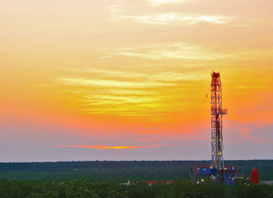 An APEX 1500 rig operates in the Permian Basin, which is characterized by stacked plays and is transitioning from vertical to horizontal wells.