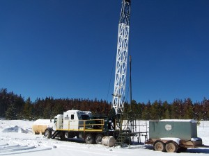 Cloverleaf Well Service has a swab rig in the Jonah gas field in Wyoming working to remove water from production pipe.