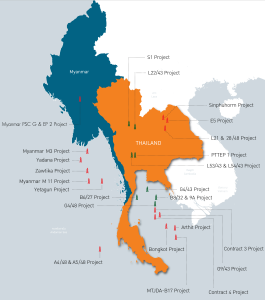 PTTEP has seven onshore concessions in Thailand, 10 offshore fields in the Gulf of Thailand and one exploration field in the Thai Andaman Sea. Outside of its home base, the company also has significant interests in Myanmar. This includes one onshore field and five offshore fields. PTTEP operates Zawtika, Myanmar M3 and Myanmar M11 offshore.