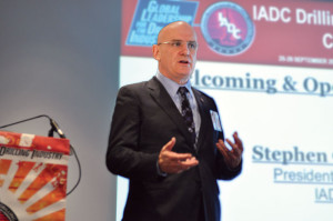 IADC president and CEO Stephen Colville speaks at the IADC Drilling HSE&T Europe 2013 Conference & Exhibition in Amsterdam on 25 September.