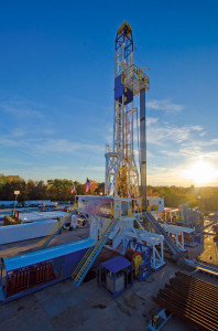 Nomac Rig 70 is one of several newbuild Peake series rigs working for Chesapeake Energy in Ohio's Utica Shale. Nomac is drilling with conventional mud motors that can achieve build rates up to 12° in the curve section.