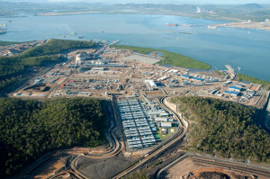 The liquefaction terminal for the QCLNG project is located on Curtis Island. Project operator BG Group says first LNG should be ready for export by Q4 2014.