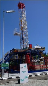 [left picture from slide 8 from the presentation] Caption: A full drilling rig at the UMW Drilling Academy provides students with opportunities to become fully familiar with rig operations before going out for on-the-job training.