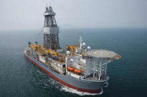 A sixth-generation DP, ultra-deepwater drillship, the Pacific Santa Ana is equipped for single- or dual-gradient drilling modes in up to 12,000 ft of water.  Image courtesy of Pacific Drilling Ltd
