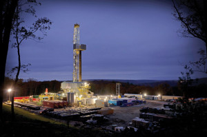 Helmerich & Payne's Rig 500 is operating in Pennsylvania. The AC-powered FlexRig5 targets extended-reach horizontal wells for multiwell pad development. The rig is suited to drill wells from 12,000 to 25,000 ft and features a bi-directional skidding system. Approximately 50% of H&P's fleet has hydraulic skid systems.