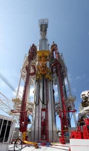 Noble's Globetrotter I drillship is equipped with Huisman's Dual Multi-Purpose Tower. It provides the rig with two centers of activity – a drilling activity center on one side and a construction activity center on the other.