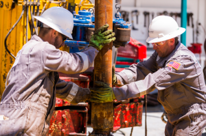 Trinidad Drilling has 54 land rigs operating in the US and 60 in Canada, including Rig 121 (pictured). For development drilling  – in plays such as the Eagle Ford, where Trinidad has eight rigs – moving systems are required to allow rigs to skid from one well location to the next for efficient operations.
