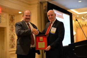 Robert Urbanowski of Precision Drilling was honored with the IADC Exemplary Service Award at the 2014 IADC Annual General Meeting in New Orleans, LA.