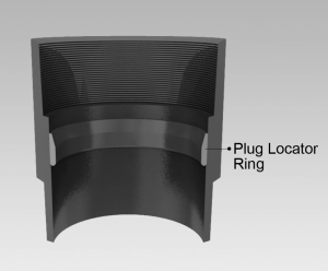 Figure 3 : A special plug locator collar installed in a collar of the casing is an important component of Weatherford's plug position indicator system.