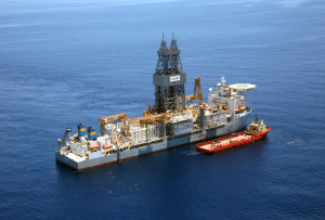 Figure 1: The Pacific Santa Ana arrived in the Gulf of Mexico in May 2012, set with the mission to launch the world's first commercial dual-gradient drilling system using Subsea MudLift Drilling (SMD) technology.
