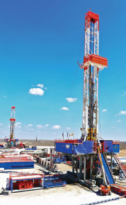 Patterson-UTI Rig 244 is drilling in Upton County, Texas. Overall, the company said, its rig count has been the most stable not in oil-rich plays like the Permian but in gas-producing plays such as the Marcellus and Haynesville.